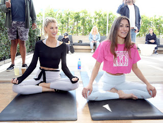 Charlotte McKinney at a Yoga Class in Beverly Hills