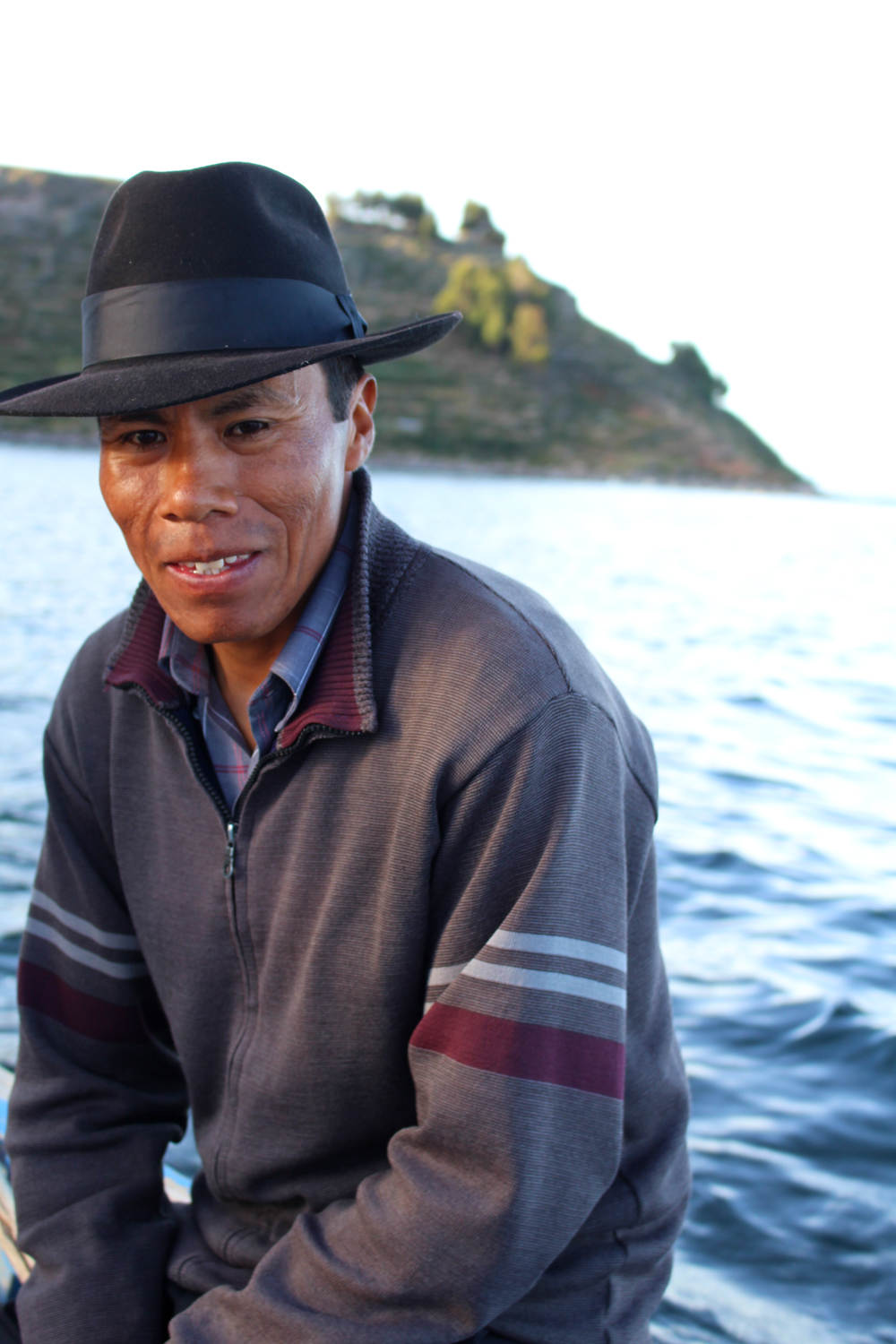 Local fisherman on Lake Titicaca, Peru - South America travel blog