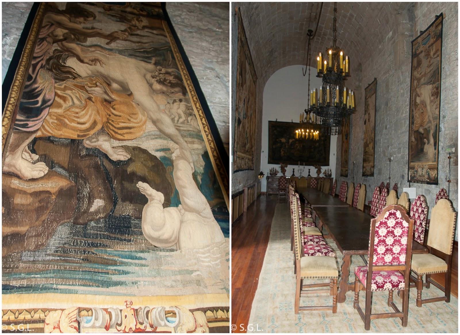Detalle de Tapices de Rubens en el parador de Hondarribia