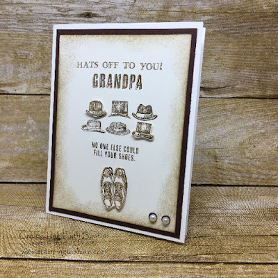 Stampin' Up! Guy Greetings card for Grandpa created by Faith Boston.
