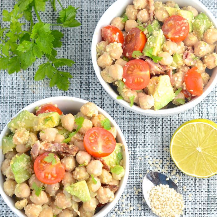 Avocado, Bacon & Chickpea Salad from Charlotte's Lively Kitchen