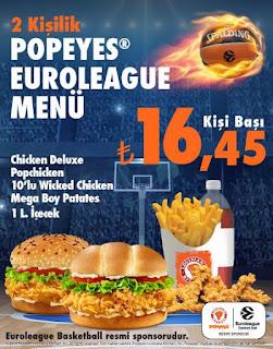 popeyes euroleague menü popeyes iki kişilik menü popeyes kampanya