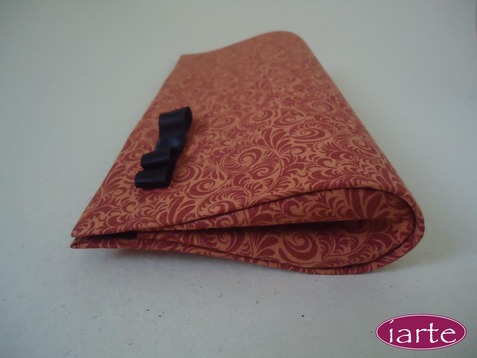 Bolsa De Mão Para Festa Passo A Passo : Cartonagem bolsa carteira de festa arabesco laranja