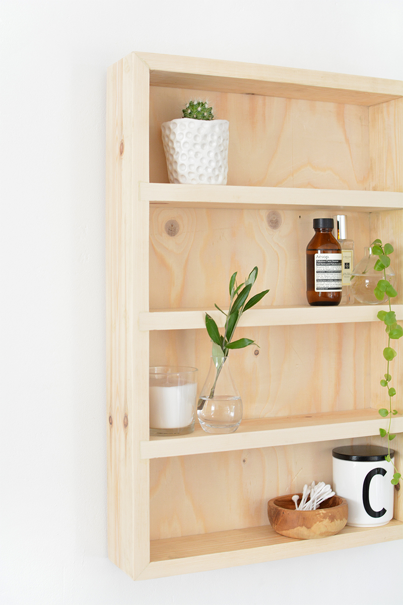 How to build a shelf unit Pine Shelf Diy Burkatron Diy Bathroom Storage Shelf Burkatron