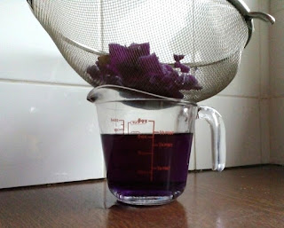 strain the red cabbage to seperate the liquid to make red cabbage water pH indicator