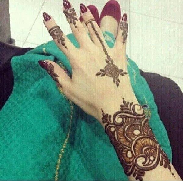 Mehndi Dress Designs 2016 New Style : Style new mehndi designs for girls hands