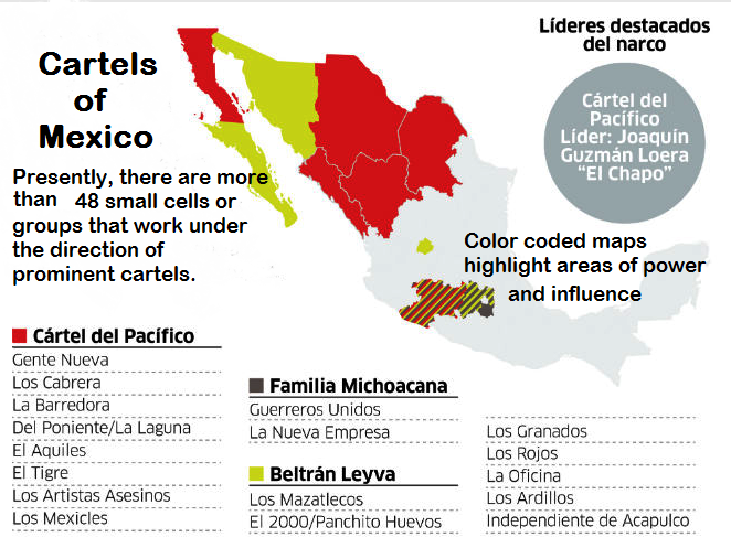 Borderland Beat: Map: Cartels and Subgroups operating in Mexico