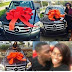 Stunned lady's boyfriend gifts her with brand new Benz to celebrate 2 years of dating  (PHOTOS)