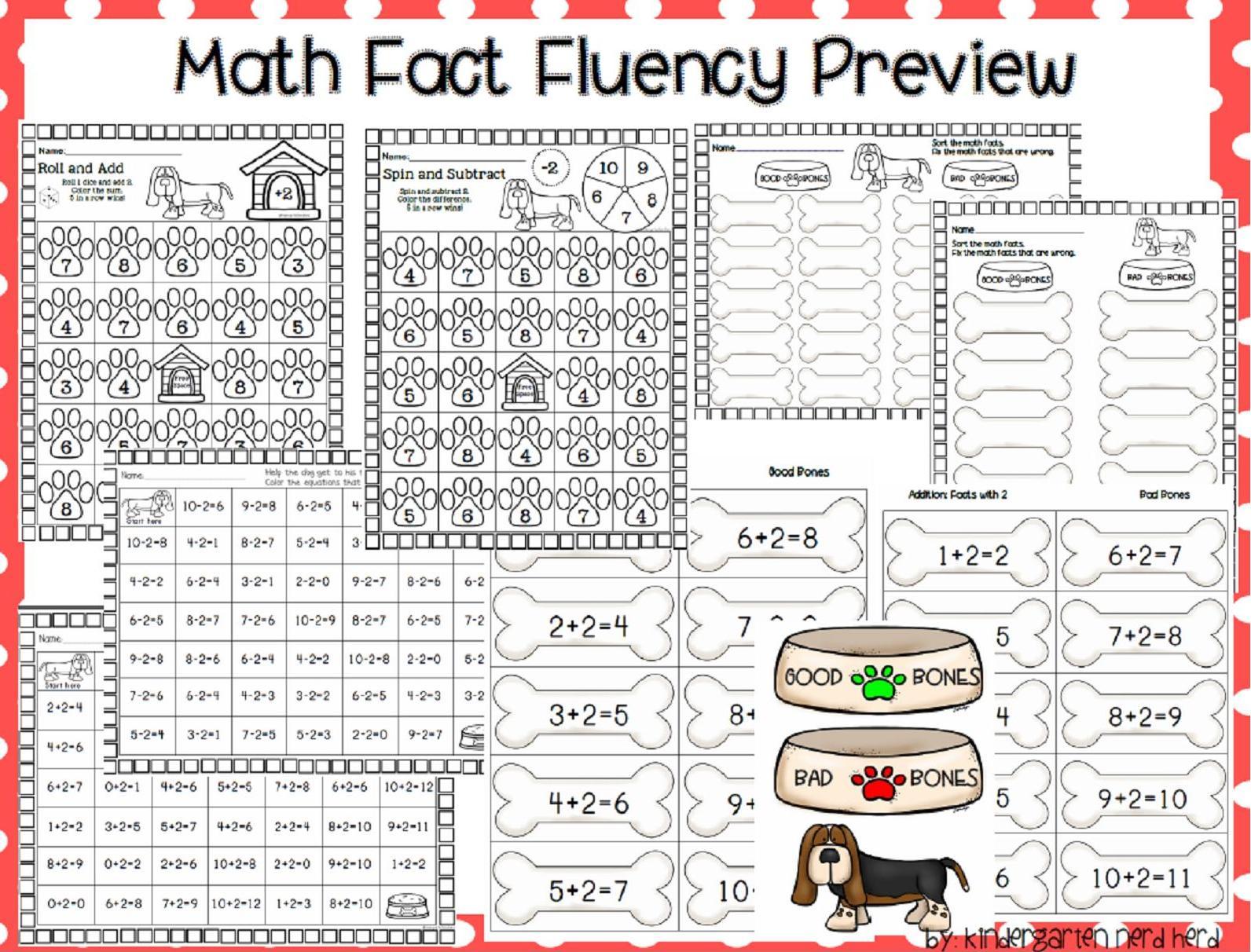 Kindergarten Nerd Herd: Math Fact Fluency