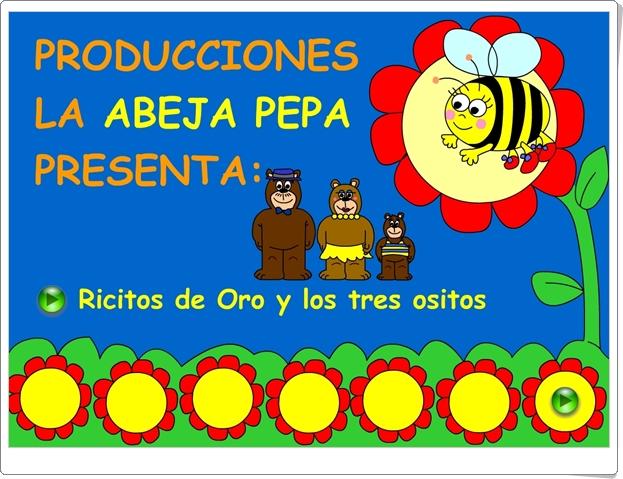 Ricitos de Oro y los tres ositos Producciones La Abeja Pepa Cuento animado para Educación Infantil