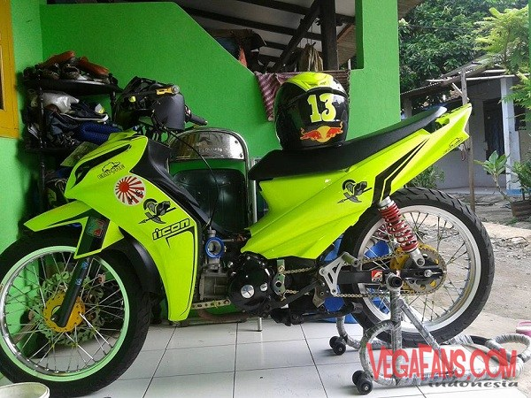 Vega ZR Modif Road Race Kuning