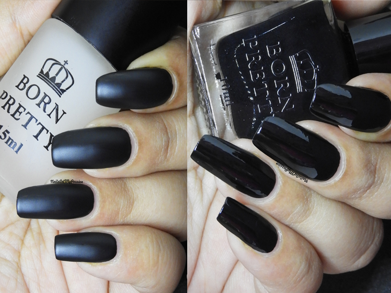 Nail Art My Passion: Born Pretty Gloss Black Nail Polish & Matte ...