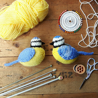 Blue tits knitting pattern by Nicky Fijalkowska