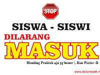 Design Stiker Himbauan Dilarang Masuk