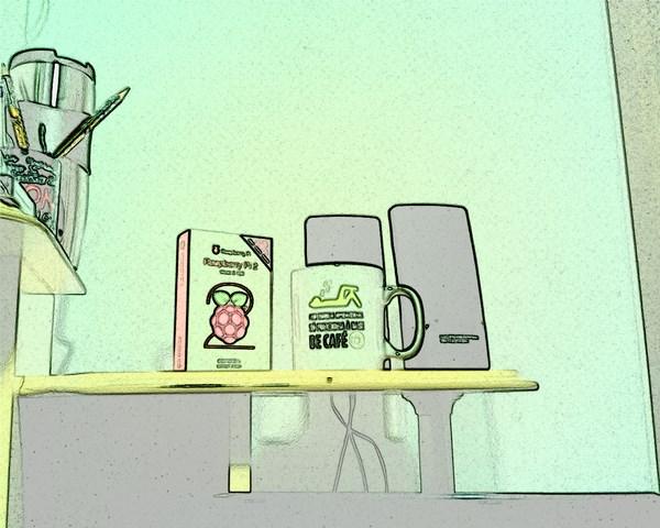 Raspberry Imagem Câmera efeito sketch