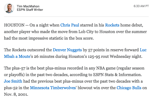 free to find truth: 52 57 | Plus-57 in NBA's plus-minus stat is best in last two decades ...