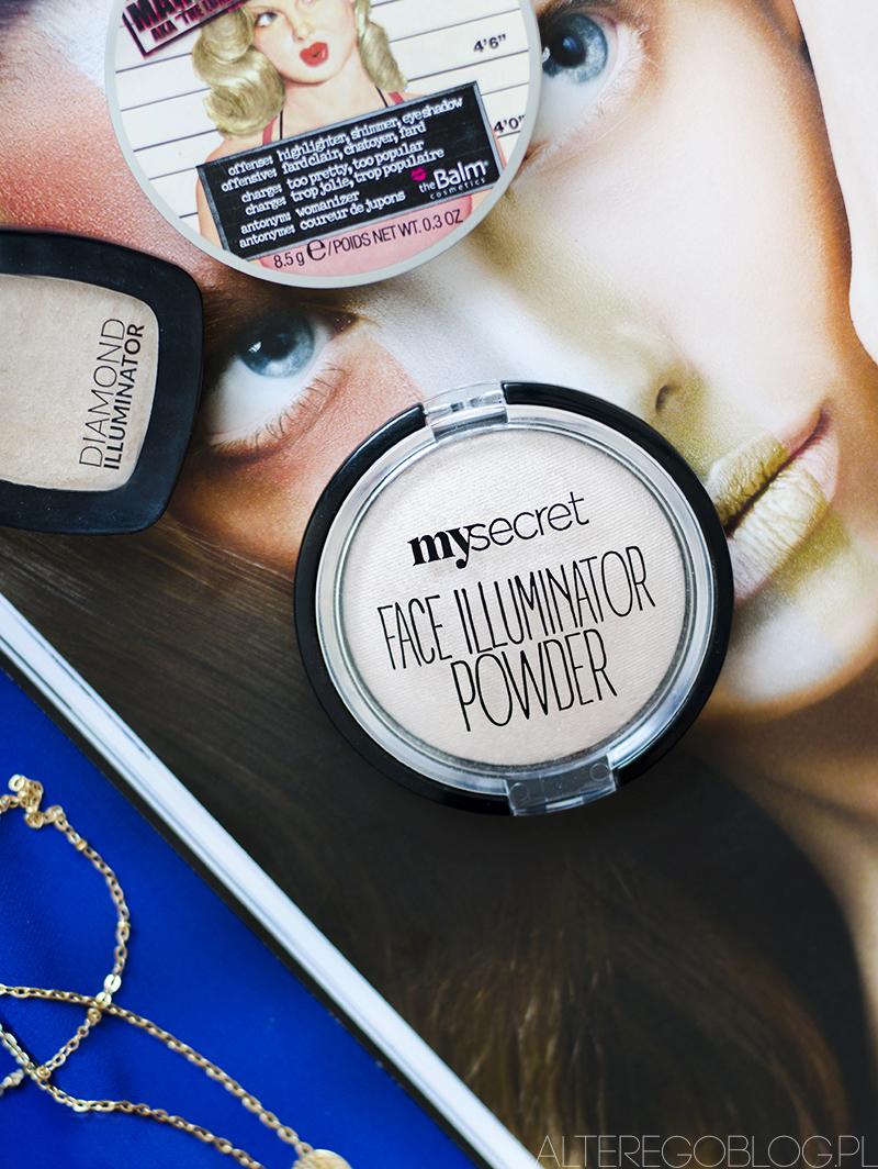 my secret face illuminator powder, my secret sparkling beige, my secret rozświetlacz, my secret swatch, my secret rozswietlacz zdjecia, my secret rozswietlacz recenzja