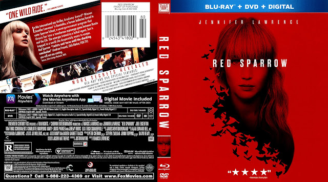 Red Sparrow (scan) Bluray Cover