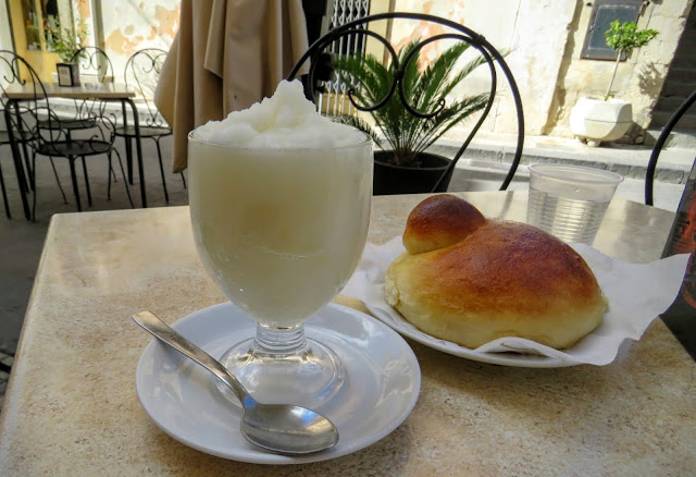Sicilian Food - granita and brioche