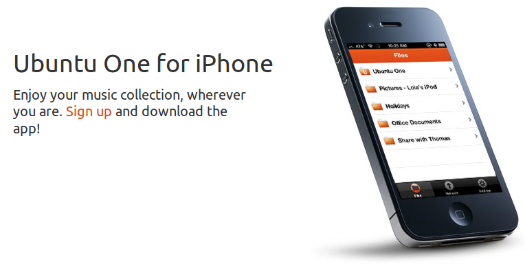 Ubuntu One Files Now Available in App Store