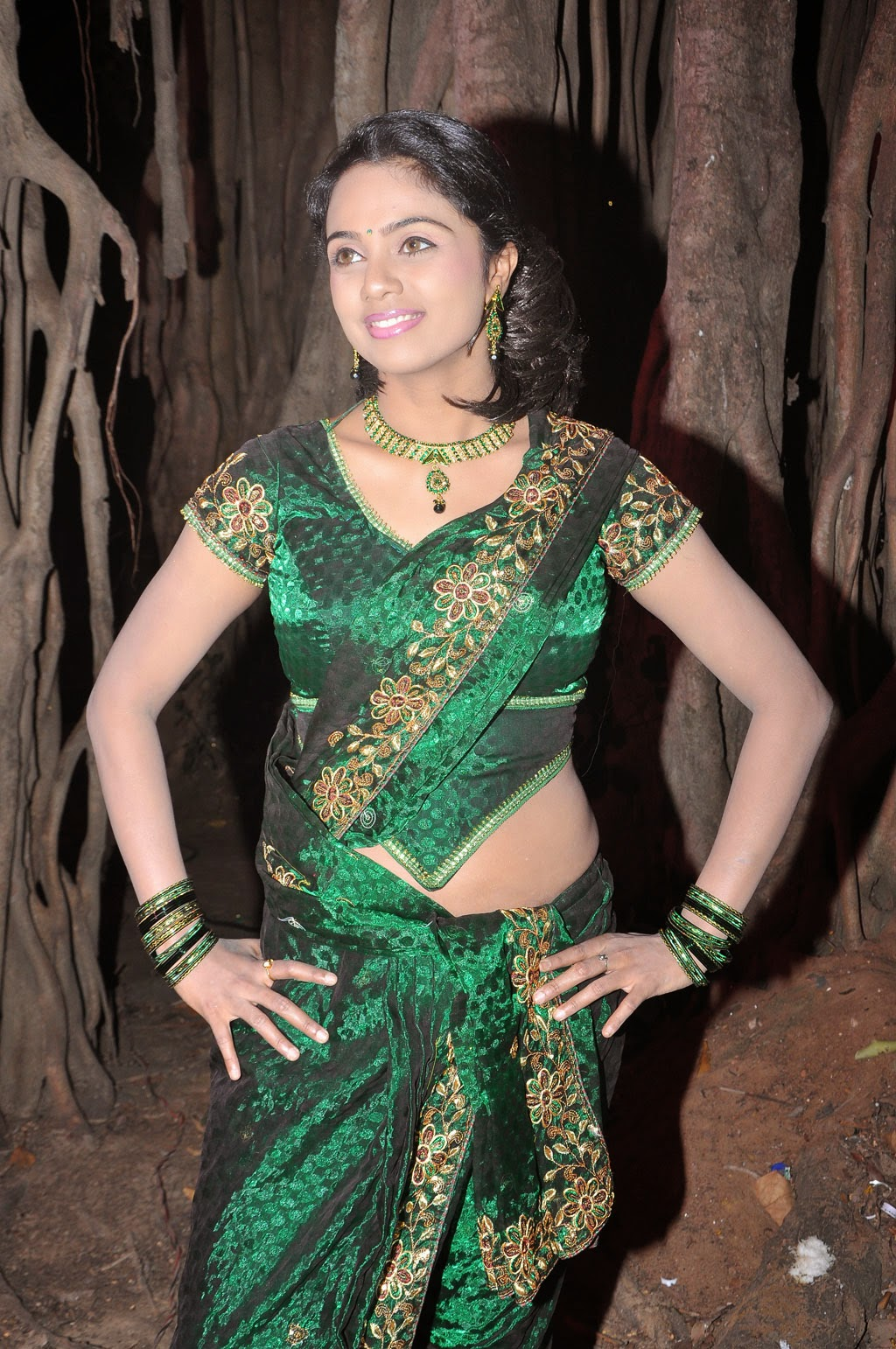 Tamil Actress Abhinayashree Hot Navel Show In Saree Pics ...