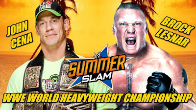 WWE SummerSlam 2014 John Cena vs Brock Lesnar WWE World Heavyweight Championship Main Event