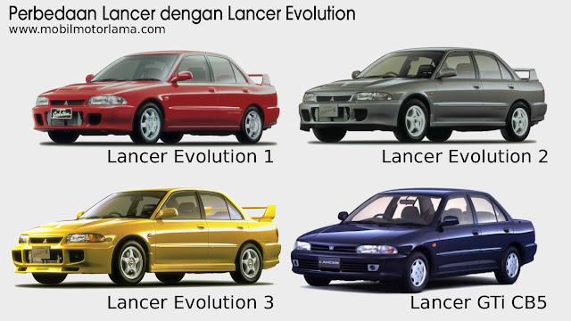Perbedaan eksterior depan Lancer Evolution