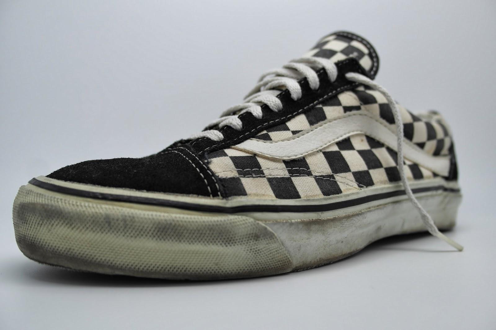 2b84230c75 vintage vans style  36 old skool black white checkerboard print made in usa  circa 1992 used. US9.5 UK8.5