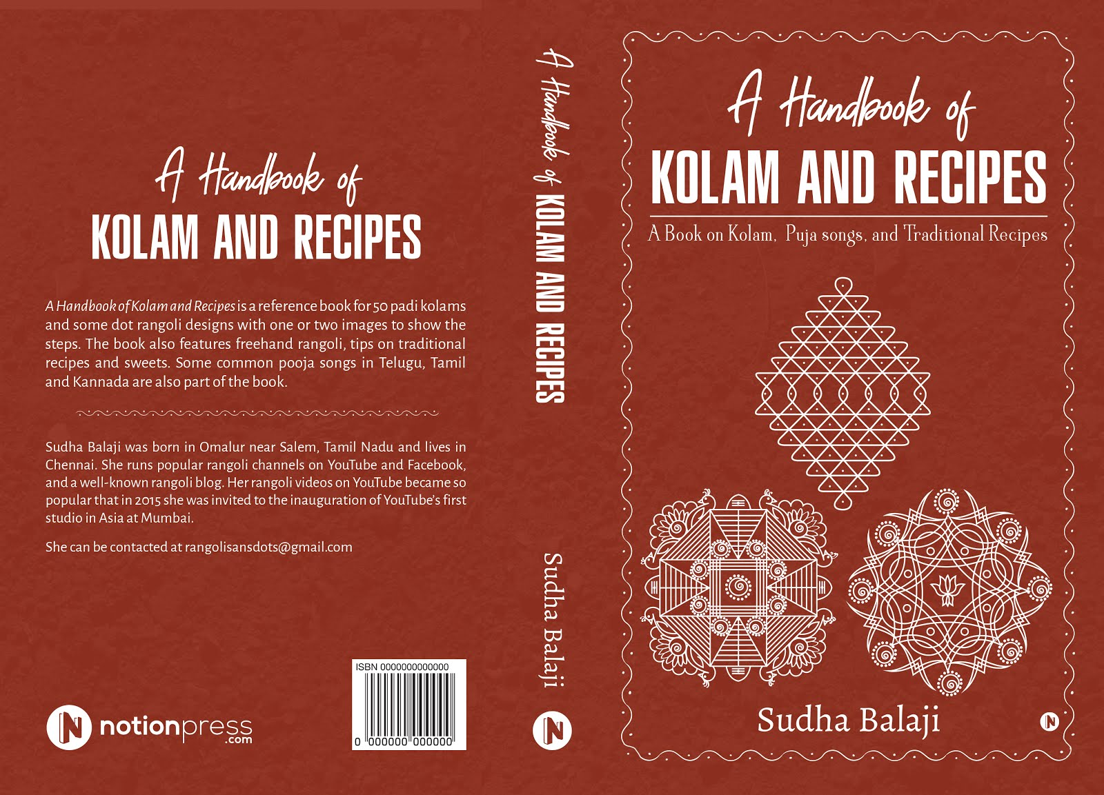 Purchase my kolam, recipes BOOK