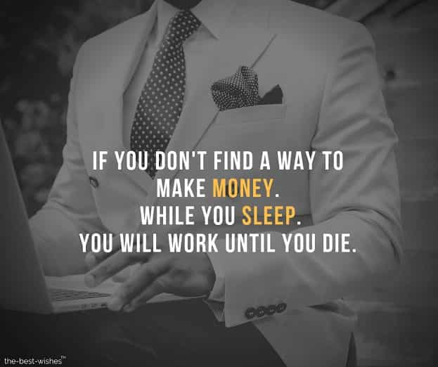Inspirational Quote Image on Life and Getting Rich