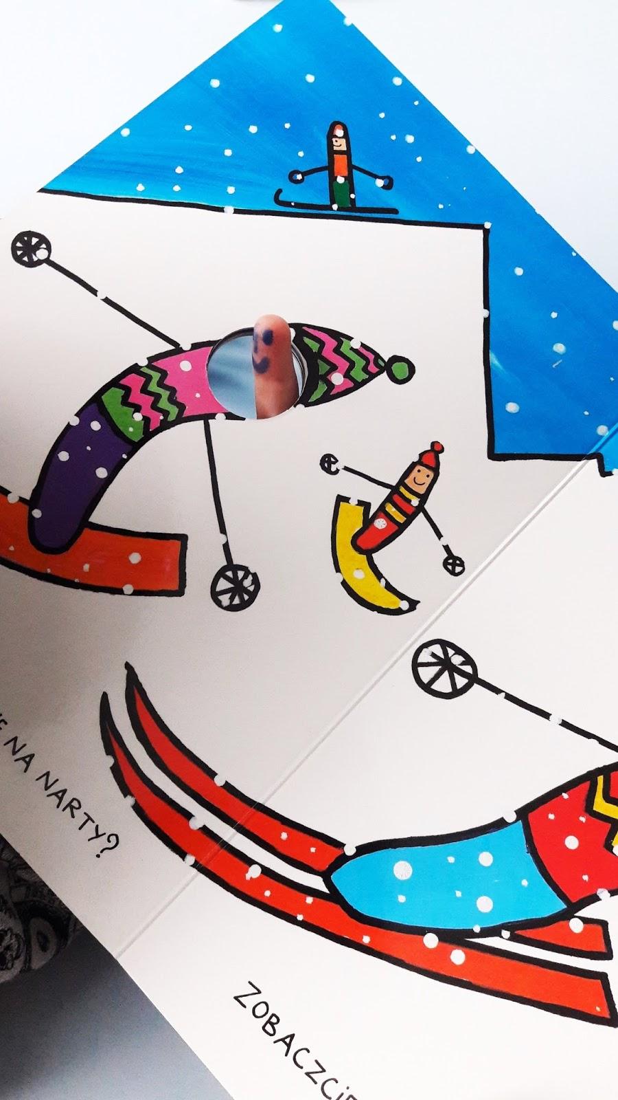 paluszkowa wyprawa robaczki Hervé-Tullet - wydawinctwo insignis - robaczki na nartach