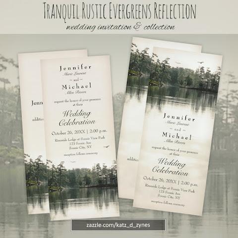 Katzdzynes New Rustic Wedding Invitation Card