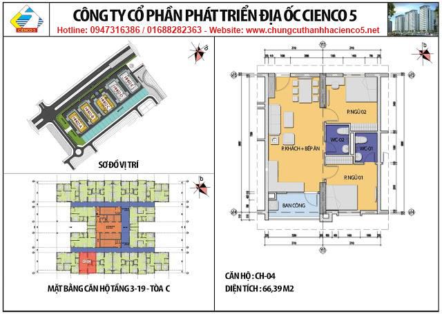 Sơ đồ thiết kế căn 04 chung cư B2.1 HH02C Thanh Hà Cienco 5