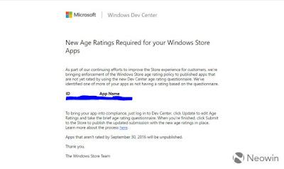 Windows Store rimuove app senza fascia d'età