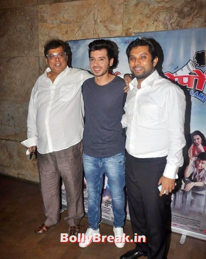 David Dhawan, Divyendu Sharma, Abhinav Shukla, 'Ekkis Topon Ki Salami' Special Screening Photos