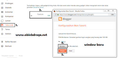Cara Mengganti Ikon Favicon di Blogger
