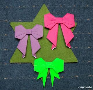 kokardki z origami