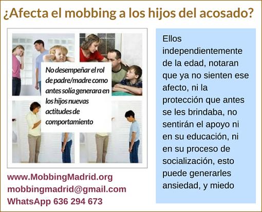 MobbingMadrid Afecta el mobbing a los hijos del acosado
