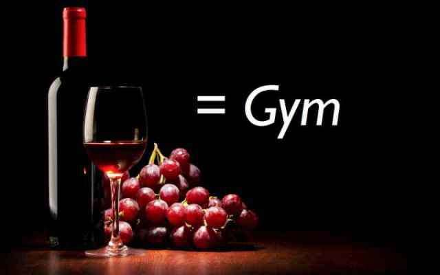 Red-Wine-is-equal-to-gym