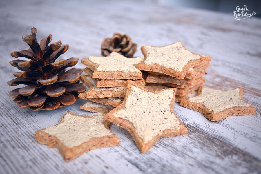 Rezept Zimtsterne Weihnachtsplätzchen Hundekekse selbst backen