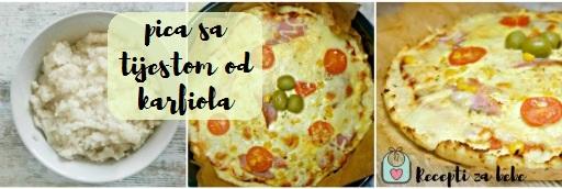 pizza sa tijestom od karfiola