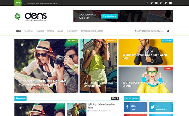 Dens Blog/Magazine Responsive Blogger