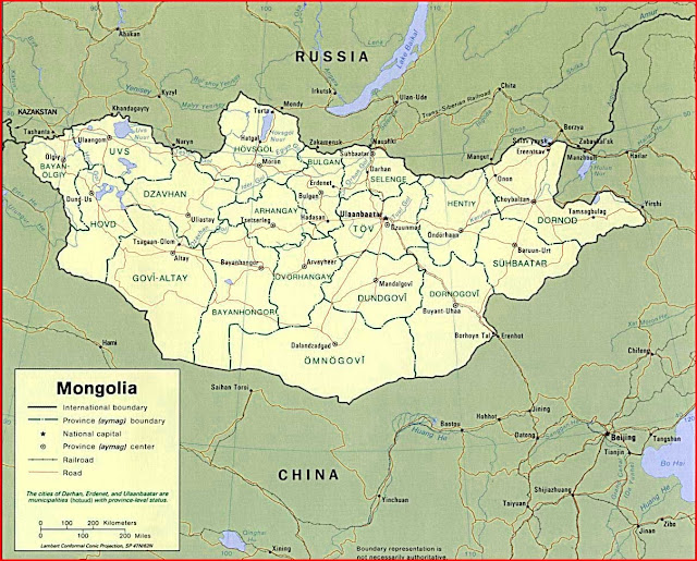 Gambar Peta politik Mongolia 1996