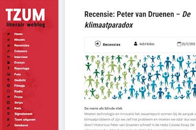 Tzum, recensie De Klimaatparadox, boekbespreking Peter van Druenen,
