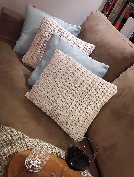 Poduszki ze sznurka