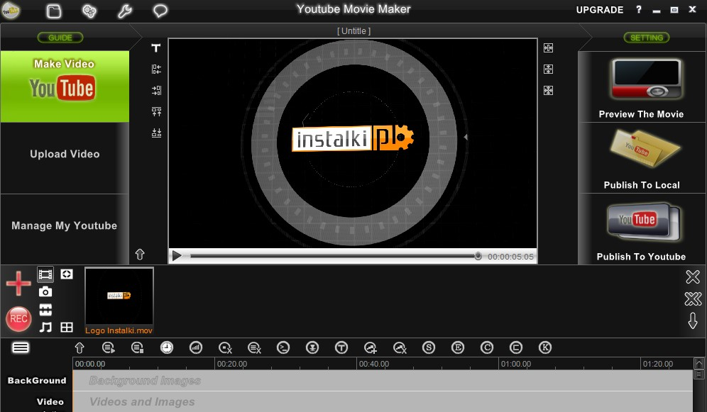 How to put youtube videos into windows movie maker?