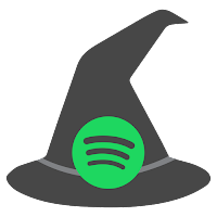 Spotify icon, witch hat