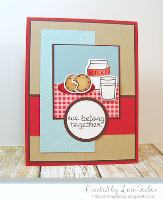 We Belong Together card-designed by Lori Tecler/Inking Aloud-stamps and dies from Lawn Fawn