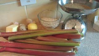 Rhubarb & Gingey Crumble