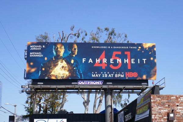 Fahrenheit 451 HBO remake billboard